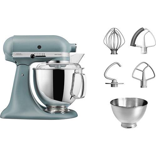 KitchenAid Set Artisan Küchenmaschine 175 Nebelblau 4,8 l 5KSM175PSEMF