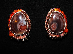 Wild Spirit Designs, botswana agate earrings