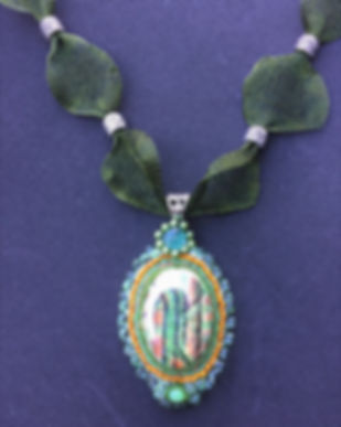 necklace in green