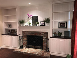 Mantle & Bookcases