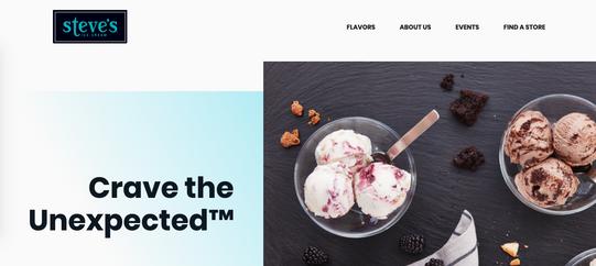 Steves Ice Cream Site Launch