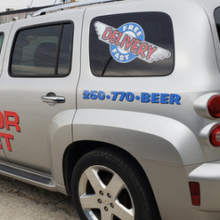 Large format print auto decals and graphics supplied and installed for Last Call Liquor Mart.