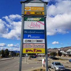 Westland Insurance and ICBC Autoplan pylon signage. Installed by local Penticton sign shop.