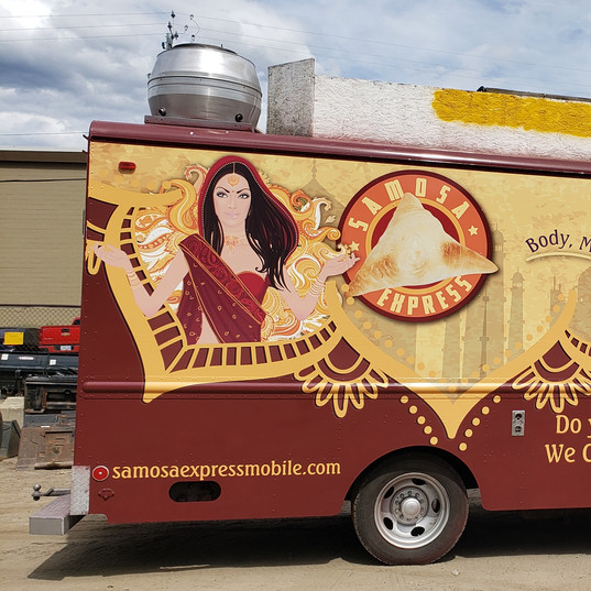 Full food truck wrap by 3M preferred installer