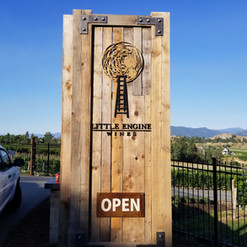 Installed 3D winery signage with CNC cut logo design