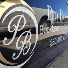 Logo design and metallic auto decals and graphics installation