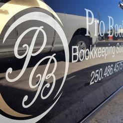 Logo design and metallic auto decals and graphics installation