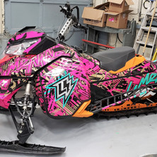 Snow mobile / sled wrap kit. Completed by our 3M preferred installer.