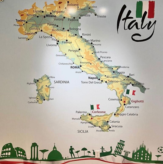 Caffe d'Italia large format print wall mural. Designed and installed by local Penticton sign shop.