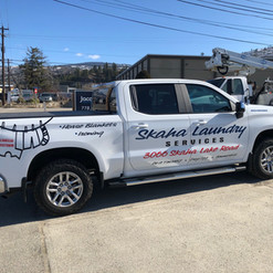 Skaha Laundry Truck decals.