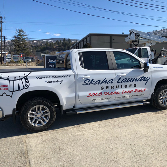 Skaha Laundry Truck decals.