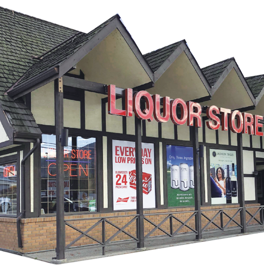 3 dimensional channel letter sign for Barley Mill liquor store