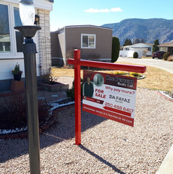 Real estate sign frame with large format graphics