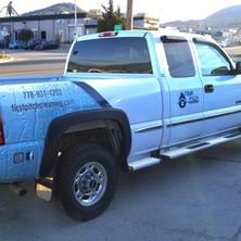 Partial 3M vinyl truck wrap with cut vinyl graphics