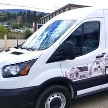 Partial van wrap and cut vinyl decals. Installed by our 3M preferred installer.
