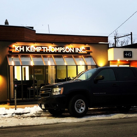 LED lit signage for KH Kemp Thompson Inc in Penticton