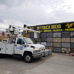 Skytouch rocks large aluminum sign with large format printed graphics. Manufactured and installed by local Penticton sign shop.