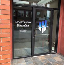 Raymond James vinyl front entrance door decals