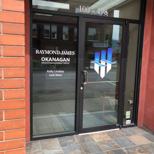 Raymond James vinyl front entrance door decals
