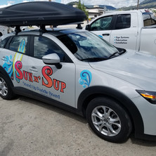 Partial 3M car wrap completed by Penticton local sign shop.
