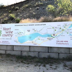 Aluminum billboard with large format printing services for Okanagan Falls Winery Association