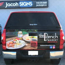 Tailgate large format print wrap
