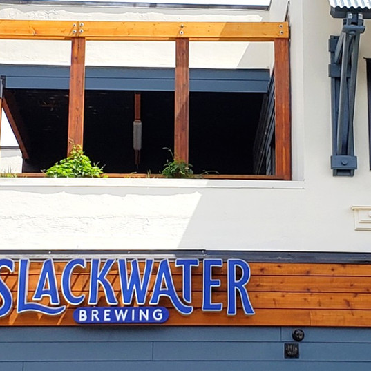Slackwater channel letter business sign
