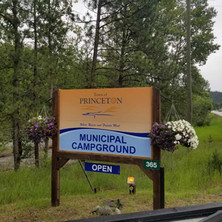 Updated municipal campground entrance signage.