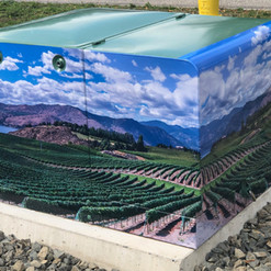 Utility box large format print wrap. Installed for the City of Penticton by our 3M preferred installer.