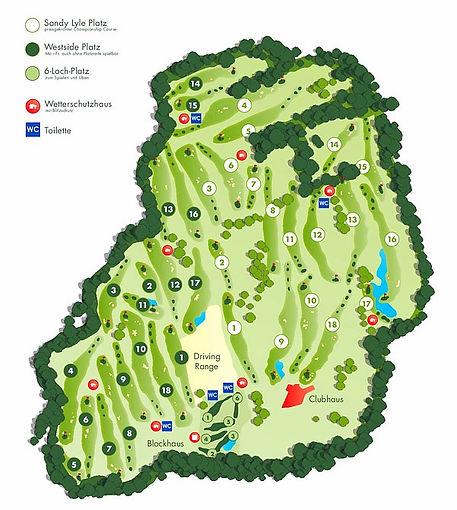Golfpark Schloss Wilkendorf Platzübersicht