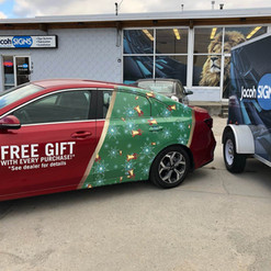 Kia promotional car wrap for Christmas gift. Completed by our 3M