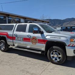 Osoyoos Fire Dep Reflective Truck Decals