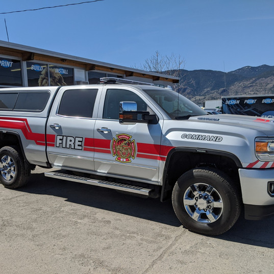 Osoyoos Fire Dep Reflective Truck Decals