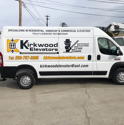 Kirkwood Elevators Sprinter Van. Another addition to their fleet vehicle graphics with full branding package.