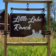 Custom designed rustic farm sign
