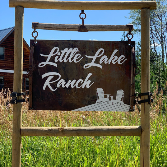 Custom designed rustic farm sign