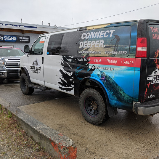 Chute Lake Van Wrap by 3M preferred installer.
