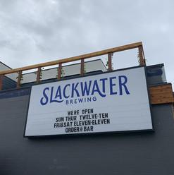 Slackwater ziptrack led signage with customizable lettering