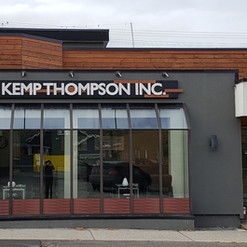 Custom made West Coast Contemporary sign and large format window vinyl