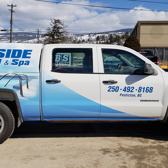 Another truck wrap for Deckside Pool & Spa to add to their fleet vehicles.