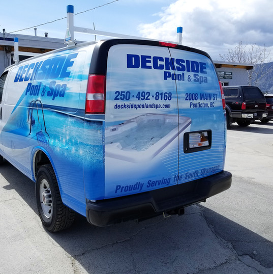 Deckside's full van wrap. One of their new fleet vehicles completed by our 3M preferred installer.