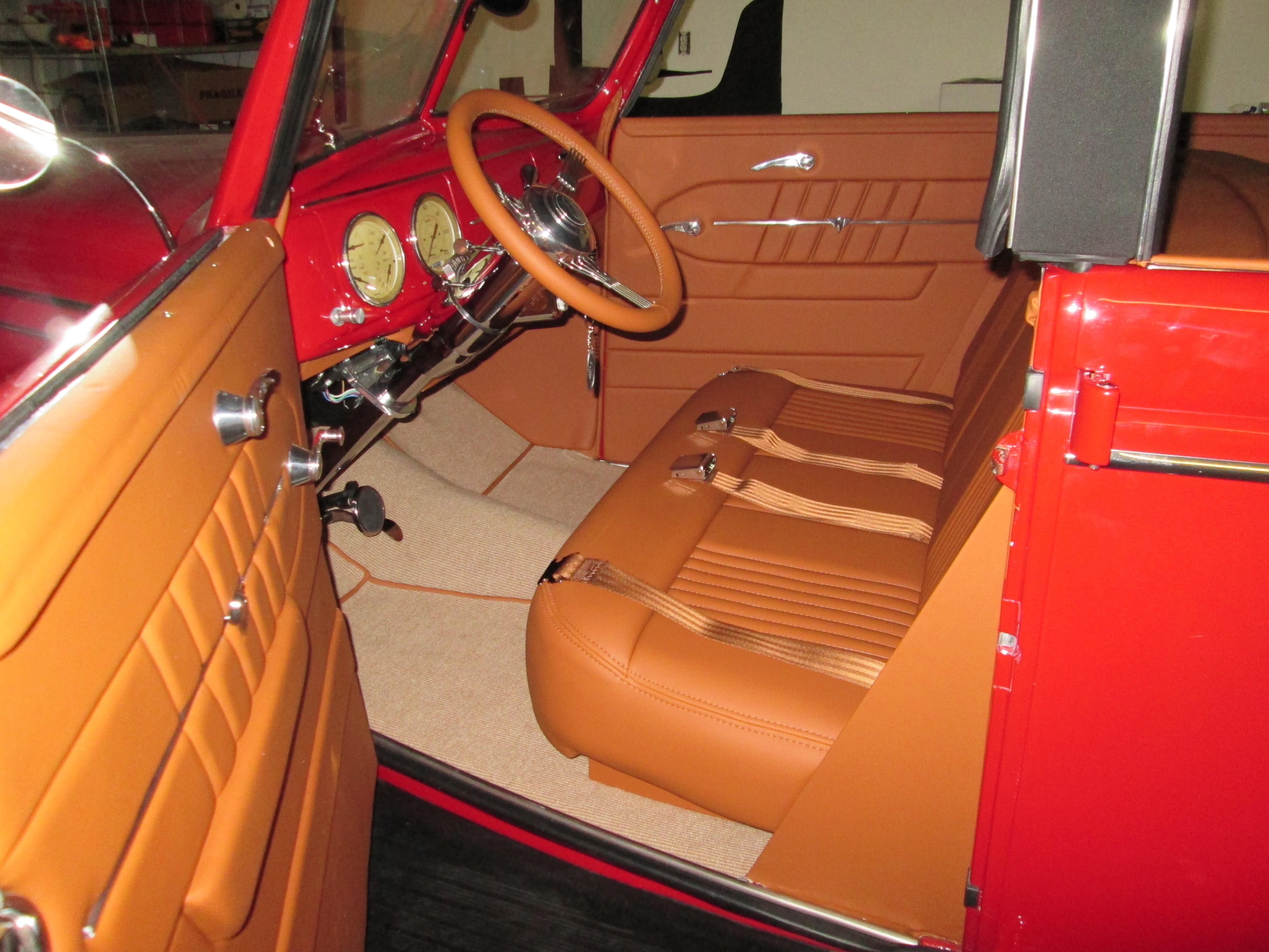 39 Ford Interior