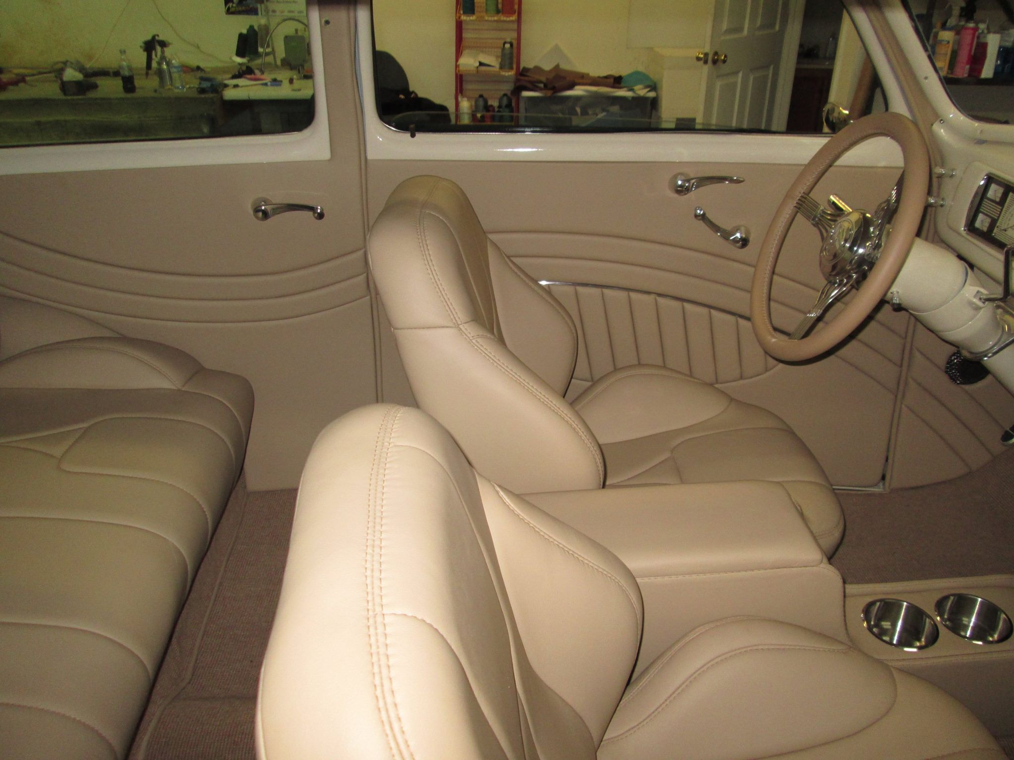 40 chevy Sedan Leather Interior