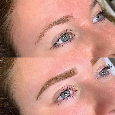 Maquillage semi permanent des sourcils bordeaux