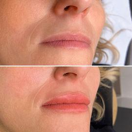 Maquillage semi permanent lèvres bordeaux