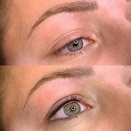 Ras de cils liner maquillage semi permanent yeux bordeaux