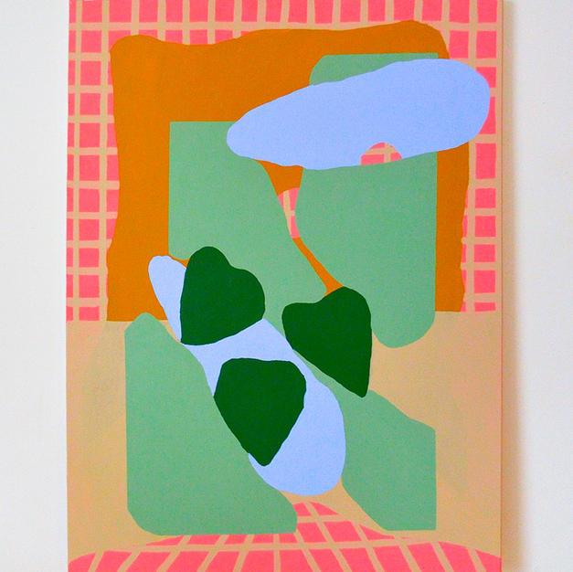 Fenêtre, 2020, acrylique sur toile, 40x29po