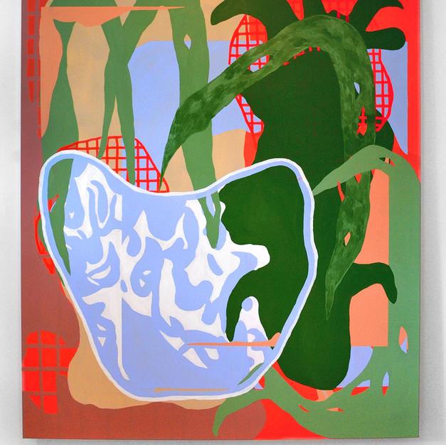 Maison, 2020, acrylique sur toile, 71x59po