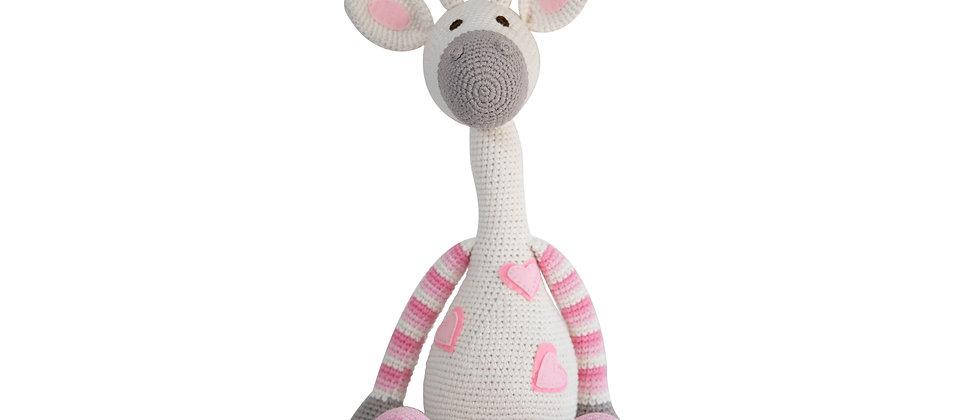 Crochet Amigurumi Giraffe (Pink)
