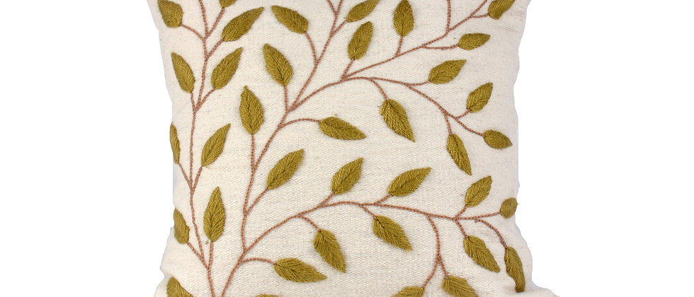 Green Leaf Pillow Cover